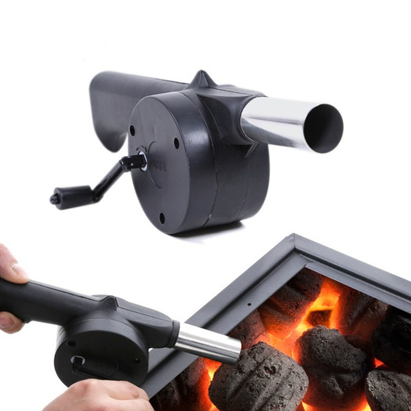 Outdoor Picnic Camping Hand Crank Powered Barbecue BBQ Grill Fan Air Blower Grill Fire Cranked Outdoor Picnic Camping BBQ Barbecue Tool Fan