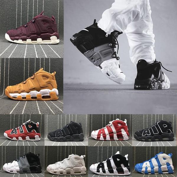 [С коробкой]горячая больше Uptempo красное черное золото мужская баскетбольная обувь для 3M Моды случайные кроссовки Скотти Пиппен спортивные кроссовки США 8-13