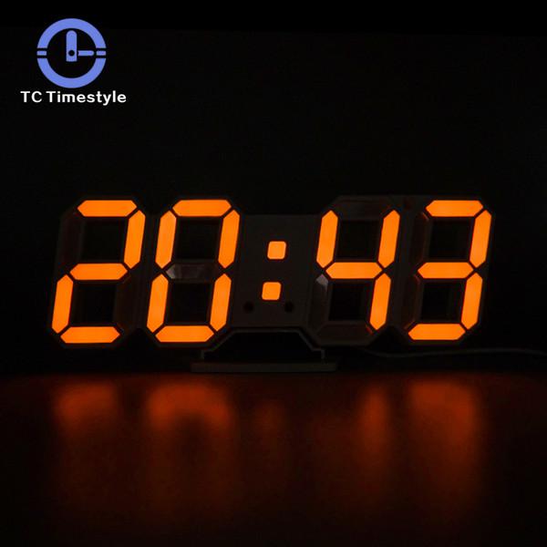 Großhandel 3D LED Wanduhr Modern Digital Wecker Display Home Küche  Bürotisch Schreibtisch Nacht Wanduhr 24 Oder 12 Stunden Anzeige Von Waxer,  $21.78 ...