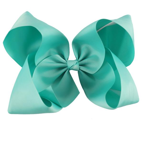 8pcs/10 Inch Large Solid Grosgrain Ribbon Hair Bow For Pretty Girls Children Kids Hairgrips Headwear Handmade Hair Accessories