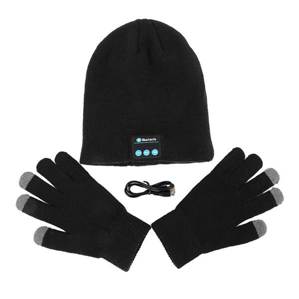 Winter Wireless Bluetooth Smart Touchscreen Beanie Cap in Kopfhörer Touchscreen Handschuhe gebaut