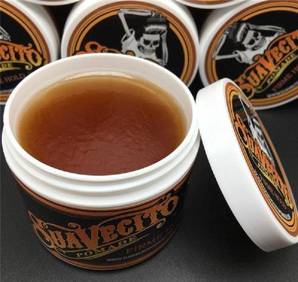 top popular Hot Suavecito Pomade Gel 4oz 113g Strong Style Restoring Ancient Ways is Big Skeleton Hair Slicked Back Hair Oil Wax Mud 50pcs 2021