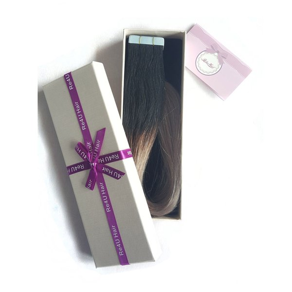 Best Selling Remy Tape Hair 100% european hair Tape In Human Hair Extensions ombre 1B Gray Color virgin raw no tangle no shedding