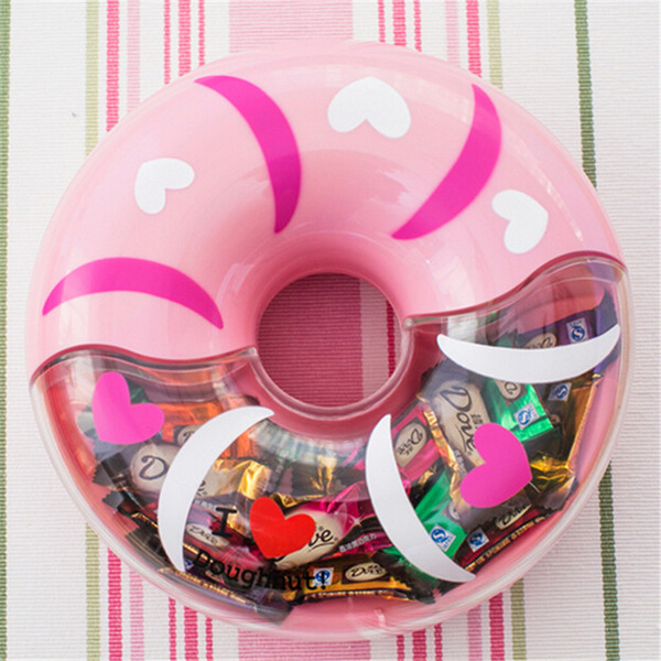 boîtes de bonbons en plastique mignon personnalité créatrice européenne boîte de cadeau de mariage baby shower doux beignets boîte de bonbons