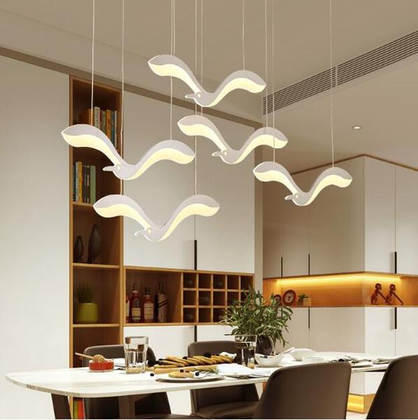 SVITZ Moderno personalidad creativa pájaro Colgante Luz dormitorio restaurante Luces sala de estar sala de estar lámparas colgantes 220 v Para Decoración