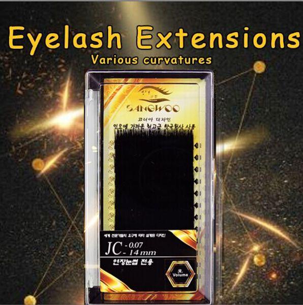 SANGWOO 1 Set Makeup Individual Cluster False Eye Lashes Grafting False Eyelashes Eager 14mm any Curl Natural Beauty Make up Tool