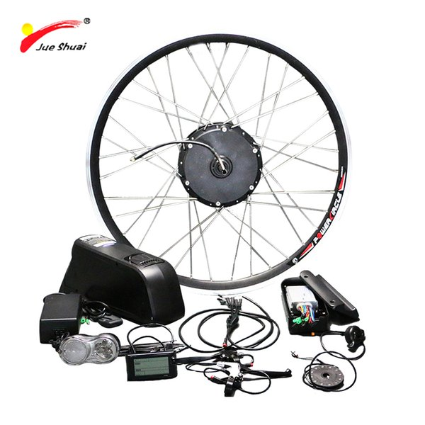"""wholesale Free Shipping 48V 500W Electric Bike Conversion Kit with Lithium Battery LCD Display 26"""" 700C Ebike motor bicycle wheel"""