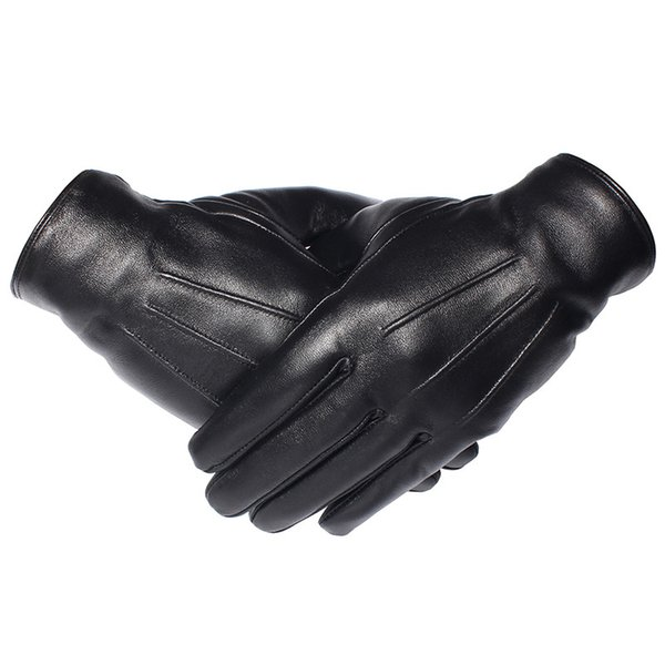 GOURS Winter Gloves Men Genuine Leather Gloves Touch Screen Real Sheepskin Black Warm Driving Mittens New Arrival GSM050