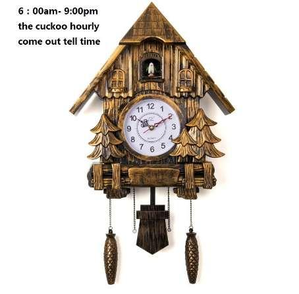 Orologio a cucù Fashion Living Room Wall Clock chiamata Day Time Only 20inch Alarm Clock Qualità Swing Wartch Modern Battery Wall