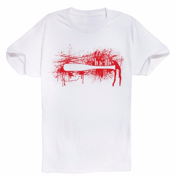 Algodão Cool Design T-Shirts O Top Walking Negan Lucille Bota Digital de Beisebol 100% Algodão Top Personalizado Top
