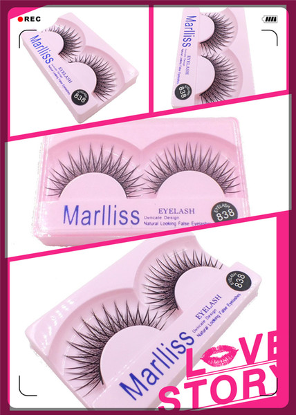 High-end fashion explosion models high-grade false eyelashes handmade 10 models pairs of boxed nude makeup special eyelashes