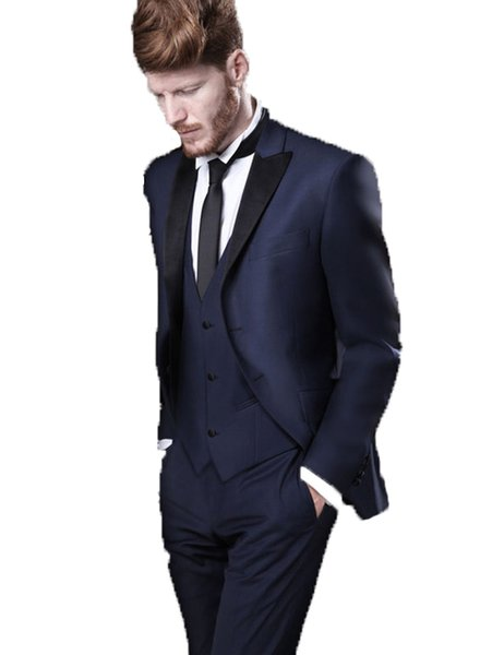 Wholesale Price Classic Design Groom Tuxedos Jacket Pant Vest Slim Fit Prom Wedding Tuxedos Dinner Party Prom Party Custom Made