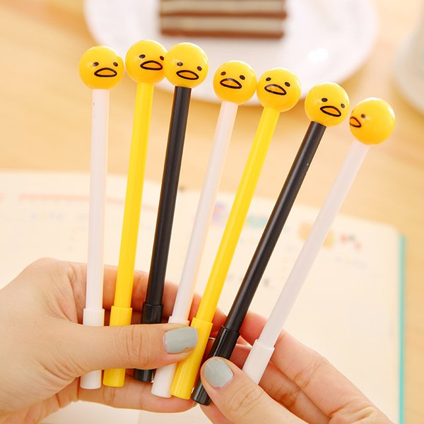 (3 Pieces/lot) Japanese Creative Stationery Lazy Egg Water Pen Cute Egg Gel Pen Black Ink School Supplies