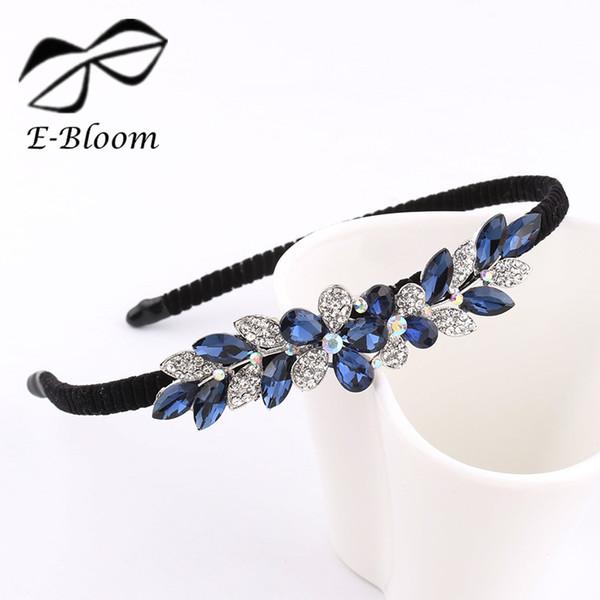 Lega Strass Bow Flower Butterfly bambini Donne fascia Cute Girls Blue Festival Moda Accessori per capelli Bella copricapo