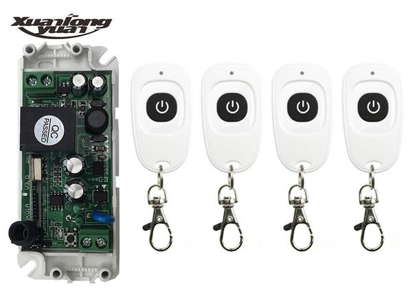 xuanlongyuan 85V 110V 120V 220V 250V 250V 1CH RF Mini Interruptor de relé Interruptor inalámbrico Controladores remotos / lámpara / ventana / Puertas de garaje