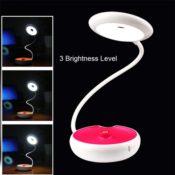 Portable LED Desk Lamp Dimmable Touch Sensitive Table Bulb USB Rechargeable Night Light for Bedside Reading Kids Hiking