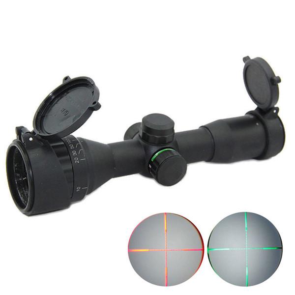 Tactical 4X32 AOE Rosso e verde illuminato Mil Dot Rifle Scope Caccia Multi rivestimento Ottica Compact Scope