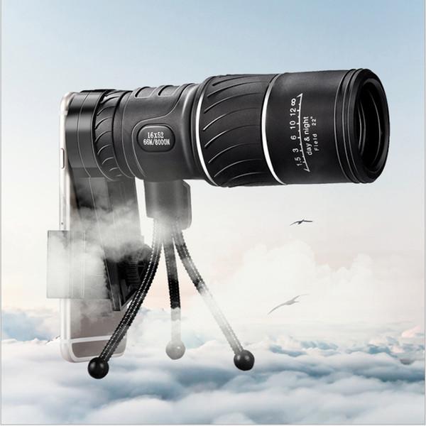 Monoculaire compact noir HD Zoom Zoom 50x52 Jumelles jumelles haute puissance haute définition réglable, idéal pour un cadeau