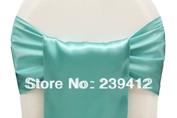 Wholesale-Light Turquoise Wedding Satin Chair Sash,Satin Sash for Weddings Events &Banquet &Party Decoration