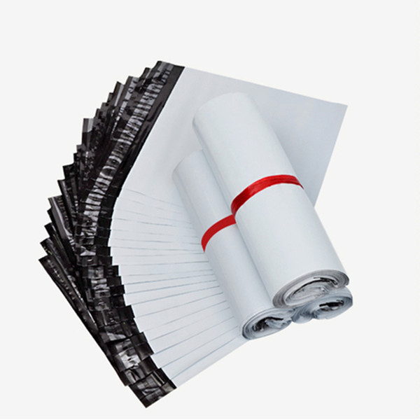 100Pcs/Lot White Self-seal Adhesive Courier bags Storage Bags Postal Shipping Mailing Bags Mail bag Plastic Poly Envelope Mailer