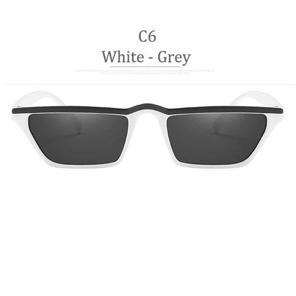 C6 Lenti grigio telaio bianco