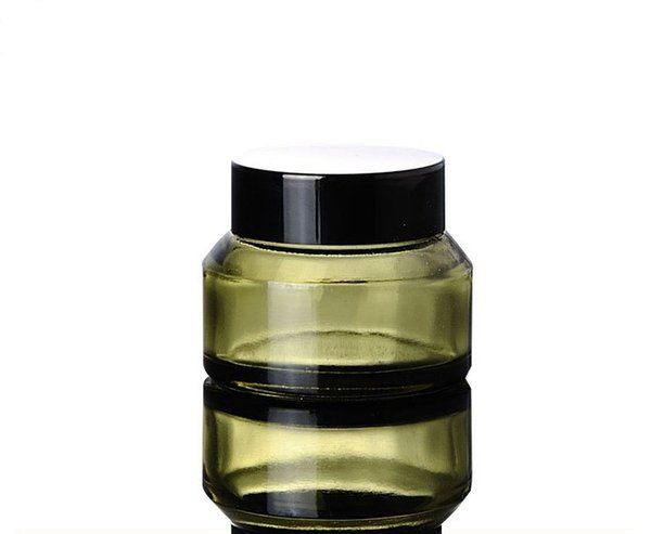 30g pickles green cream glass jar, oblique shoulder brown cream bottles, packaging travel cosmetics bottles wen5498