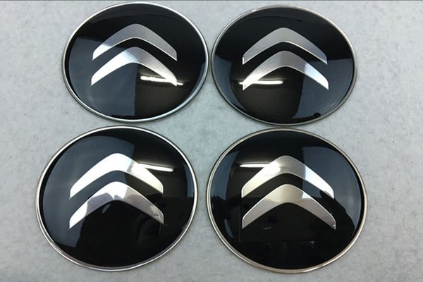 best selling 56.5mm 65mm Citroen Logo Car Silver Wheel Hub Center Caps Emblem Styling car Wheel Sticker For Citroen C2 C4L C5