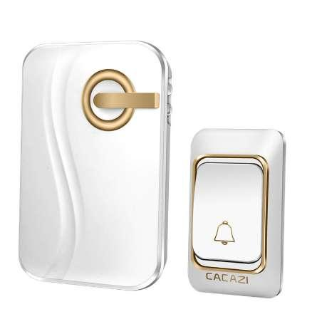 CACAZI Wireless Doorbell 36 Chimes Waterproof with One transmitter and one receiver DC Door Bell 200m Range for home