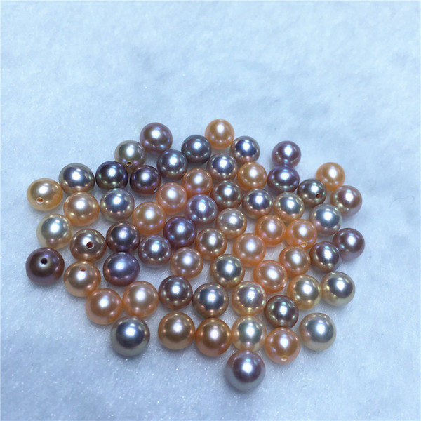 30PCS Mix Colors 6-7mm Round Pearl Loose Pearls Colorful Particles Pearls DIY Festival Gift For Women Pearl Party Free Shipping