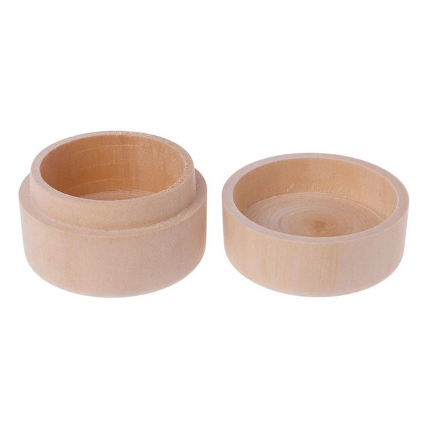 best selling Small Round Wooden Storage Boxes Ring Box Vintage decorative Natural Craft Jewelry box Case Wedding Accessories