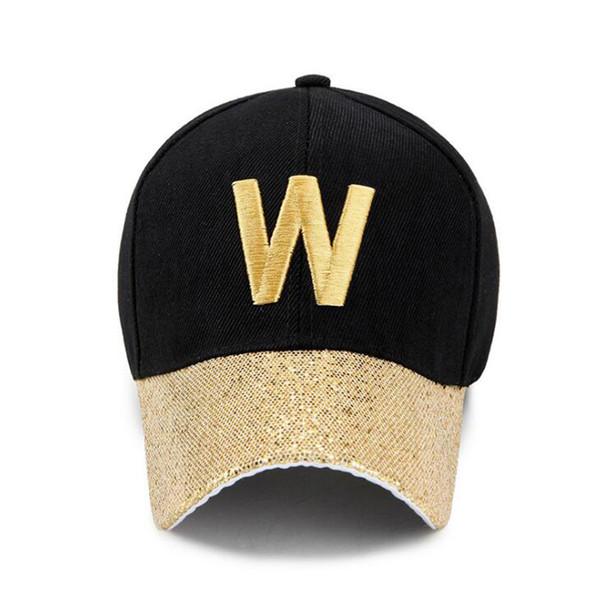 6colros W Lettere brillanti berretto da baseball uomo berretto da donna aderente cappello da sole cappello all'ingrosso designer di lusso autunno / inverno 20 pz