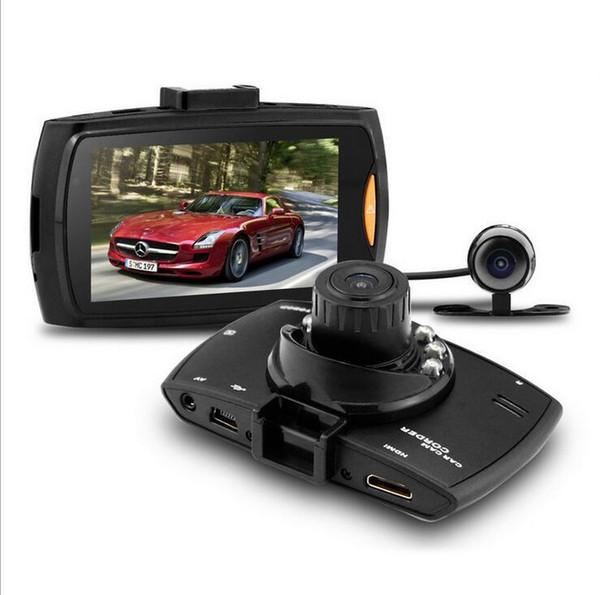 "G30 1080P Dual lens Double Camera Car DVR 2.7"" LCD G-sensor Night Vision Motion Detection Car Dashboard Cam 1pc/lot"