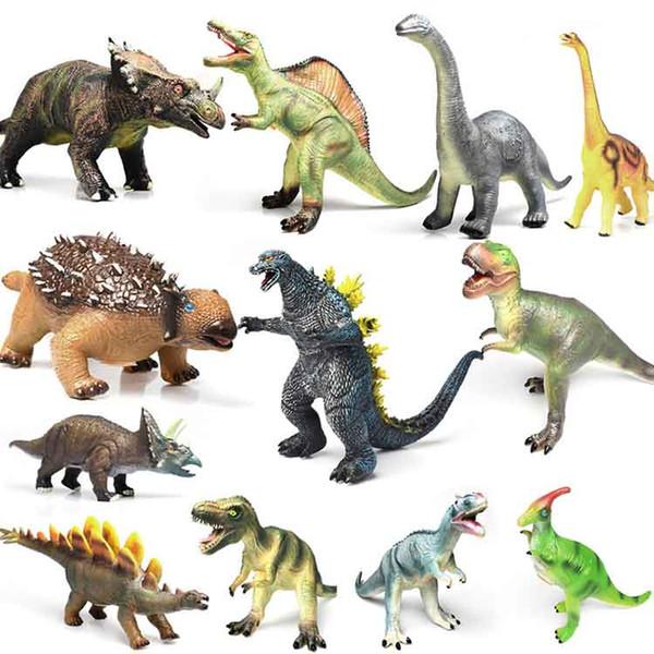 Tyrannosaurus Allosaurus Parasaurolophus Belodons Ankylosaurus Triceratops Brachiosaurus Soft Glue Dinosaur Model Toy Sound Animals DD F0003