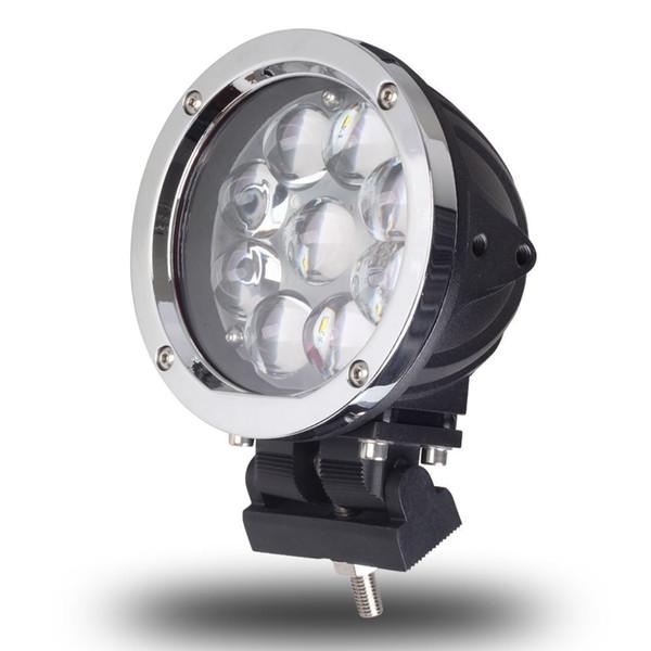 5,5 Polegada Rodada 45 W LED Ponto de Luz de Trabalho Combo Para Offroad Máquinas 4WD ATV SUV Caminhão 4x4 Conduzindo Faróis de Nevoeiro Lâmpadas