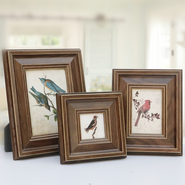 Creative Table Photo Frame 1 Pcs Resin Rectangle Family Picture Frames Without Picture Card Desk Decor Living Room Study Decorations 6 Sizes