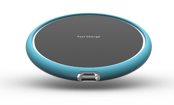 Wireless Fast Charger With Smart Design(Dark Gray/Red/Blue/Purple/Cyan)