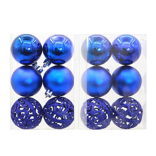 6Pcs Christmas Balls Hollow Baubles Ball Party Decorations Xmas Tree Hanging Ornament Home Decor boule transparente plastique