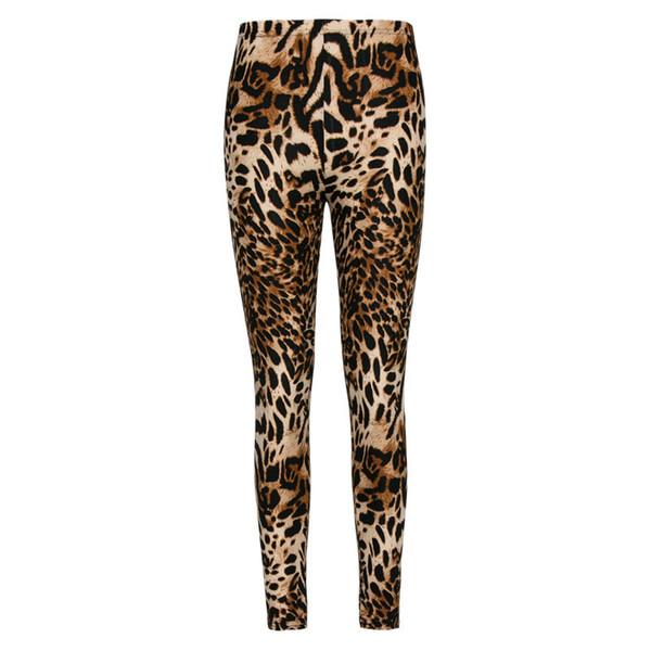 Sexy 2019 Fashion Multiple Leopard Leggings Print Skinny Pants Womens Leggins Elastic Calca Legging Feminina Workout 7 Color