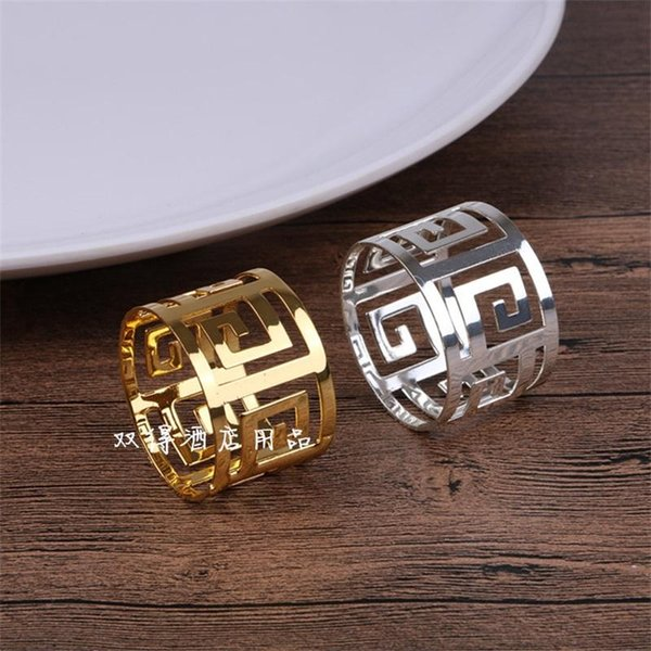 Stainless Steel Fashion Napkin Ring Hollow Out Pendulum Table Tableware Decoration Luxury Design Cloth Rings Bling Style 4 5js ZZ