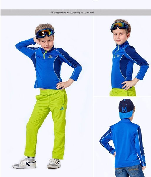 Quality Boys and girs Sport t-shirts Long sleeve quick dry Breathable Wearresistant shirts for children Outdoor Camping tees