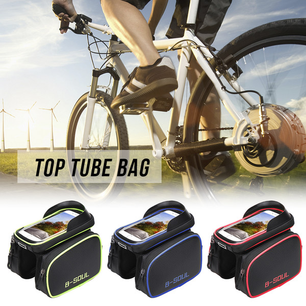 Wheelup Cycling Bike Bicycle Front Top Tube Frame Pannier Bag Pouch Phone Holder