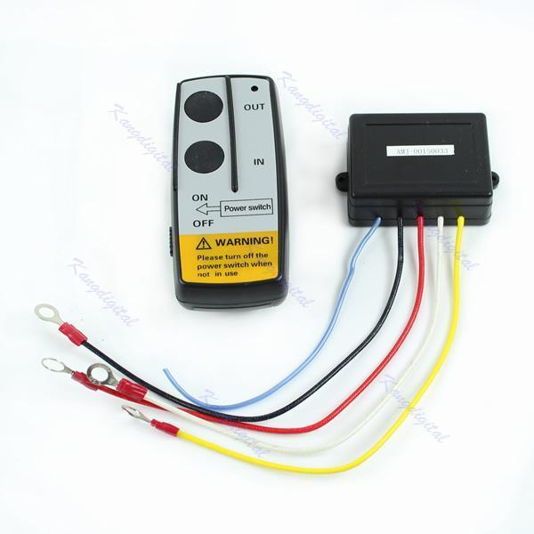 12V Electric Winch Wireless Remote Control Kit For Truck Jeep ATV Warn Ramsey