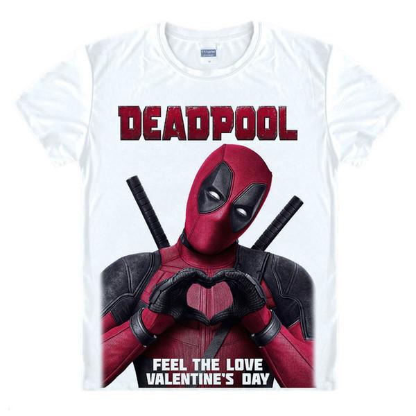 Deadpool 2018 Summer Casual Man T Shirt New Deadpool 2 The Movie Marvel Men's White T-Shirt Women boy love Valentine's Day Tee
