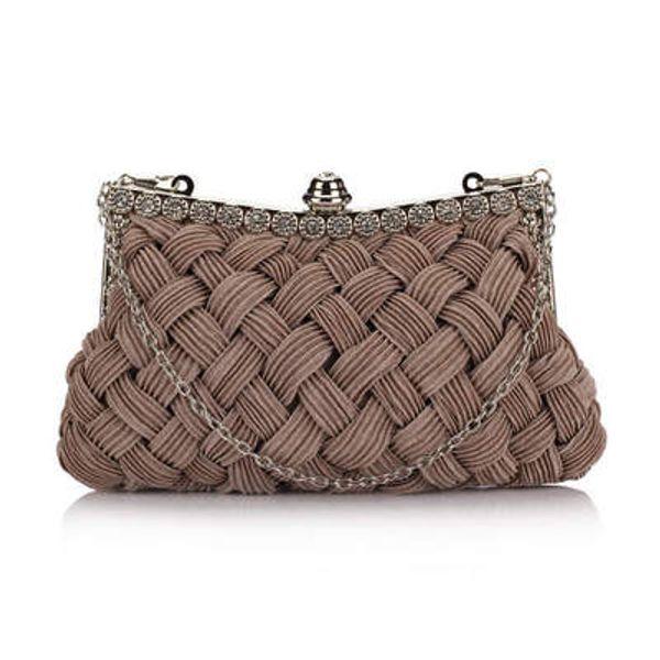 Evening Bags Brand Designer Elegant Women Knitting Evening Bags Lady Wedding Clutch Chain Shoulder Bag Purses Messenger Luxury Handbag