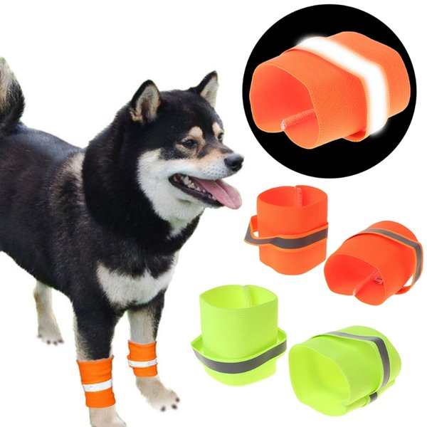 Free Shipping 2pcs Reflective Dog Wristband High Visibility Safety Pet Bracelet Night Running Hiking Walking for Small Large Dogs