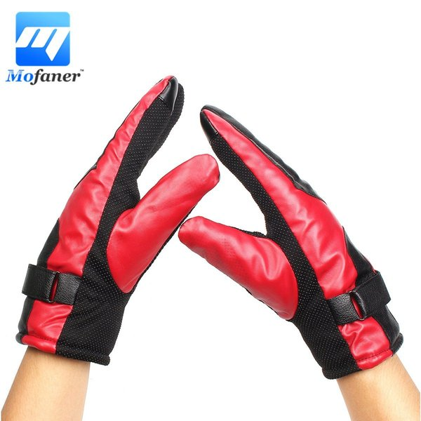 Mofaner Winter Gloves Motorcycle PU Leather Gloves Keep Warm Fashion Motorbike Scooter Cycling Full Finger Touch Screen Glove