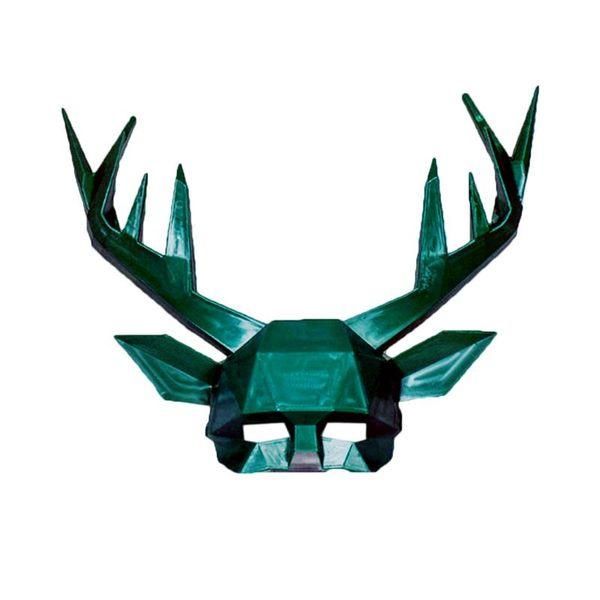 Halloween Antler Mask Festival Costume Masquerade Cosplay Photo Prop Animal Deer Mask Half Party Supplies