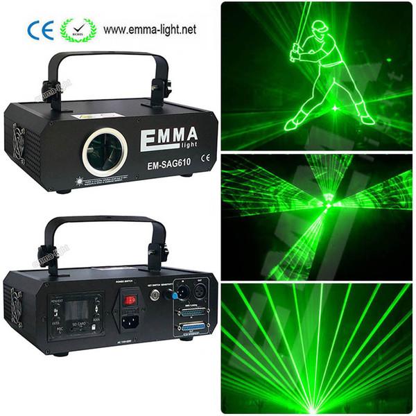 2018 새로운 레이저 빛 1000mw 녹색 레이저 쇼 DMX ILDA SD 카드 구멍 30K 체계 단 하나 색깔 광선 생기 스트로브 영사기