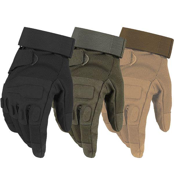 Черный Ястреб Тактические Перчатки Военная Армия Пейнтбол Airsoft Combat Shooting Противоскольжения Велосипед Полный Палец Перчатки Для Мужчин Женщин D18110705