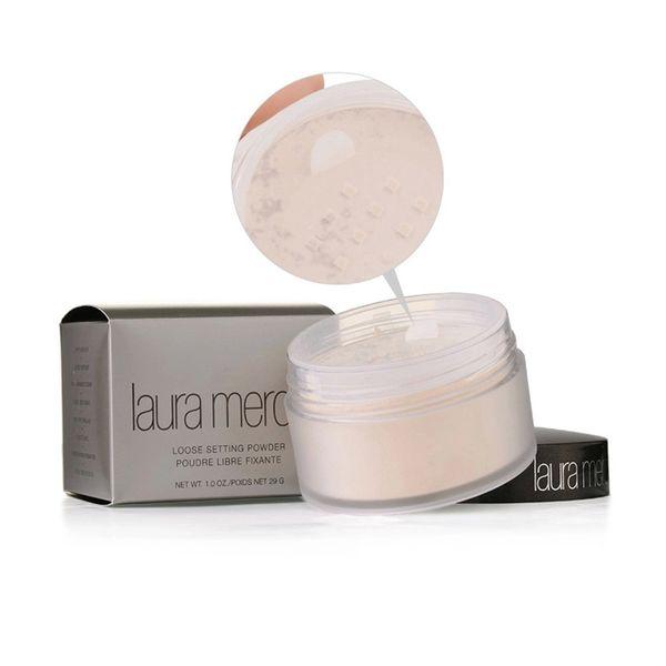 Laura Mercier translúcida Maquillaje en polvo suelto 3 colores Pro Pouder Libre Fixante Brighten Corrector Con Caja de marca Cosméticos 29g 1 unids